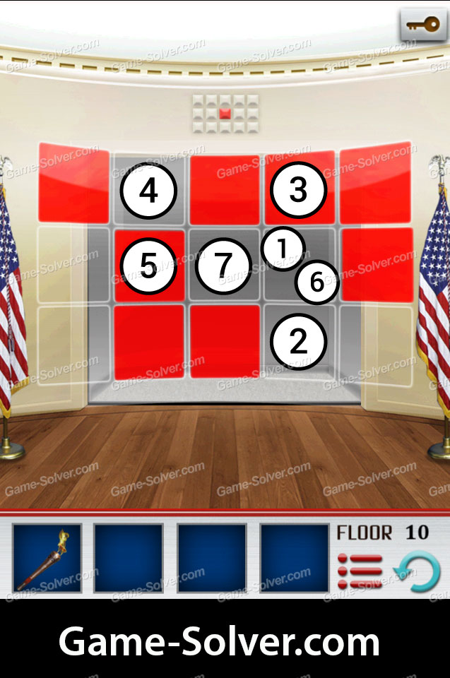 100 Floors World Tour Usa Pack Level 10 Game Solver