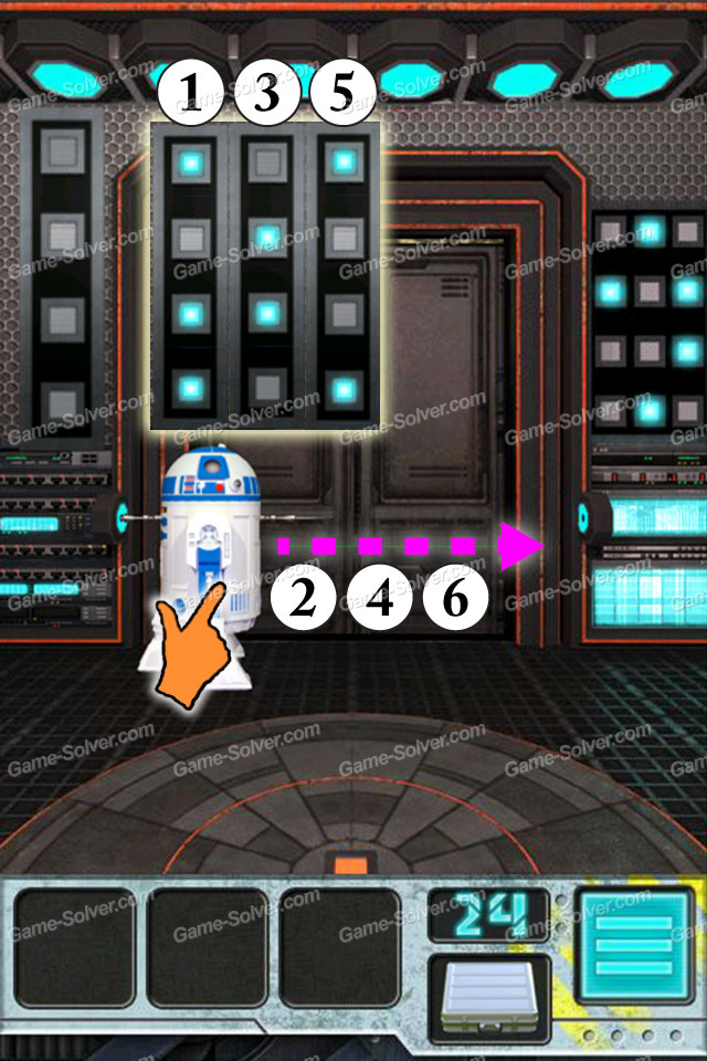 100 Doors Aliens Space Level 24 Game Solver