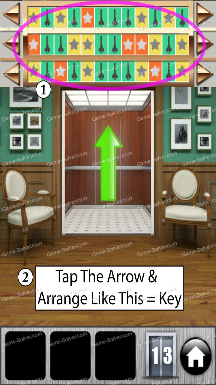 100 doors of revenge level 13 game solver for Door 4 level 13