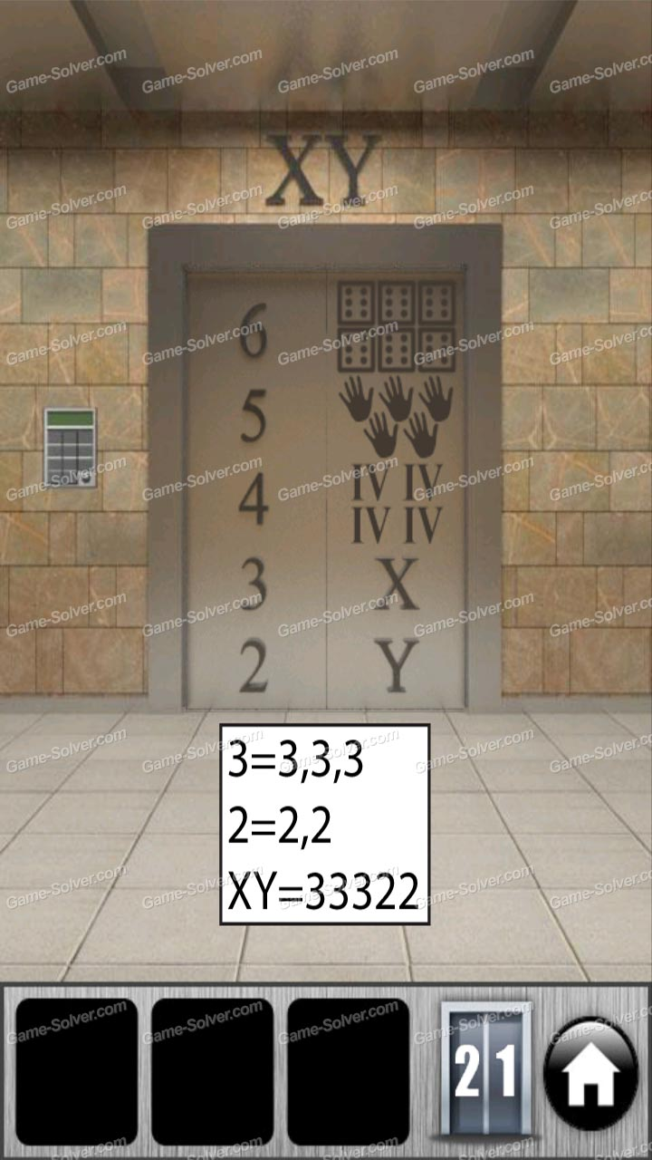 100 doors of revenge level 21 game solver for Door 4 level 21