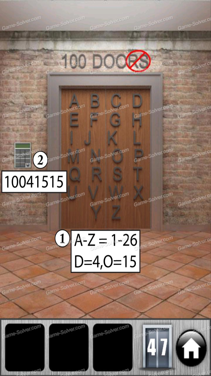100 doors of revenge level 47 game solver for 100 door of revenge