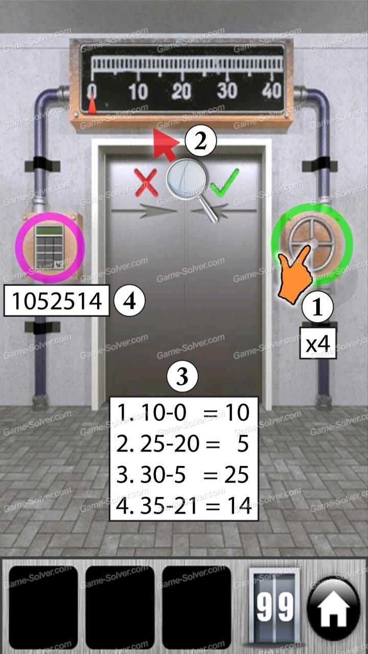 100 doors of revenge level 99 game solver