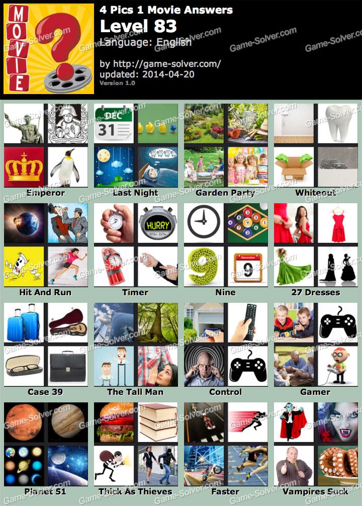 4 pics 1 movie level 83 game solver 4 pics 1 movie level 83 expocarfo Gallery