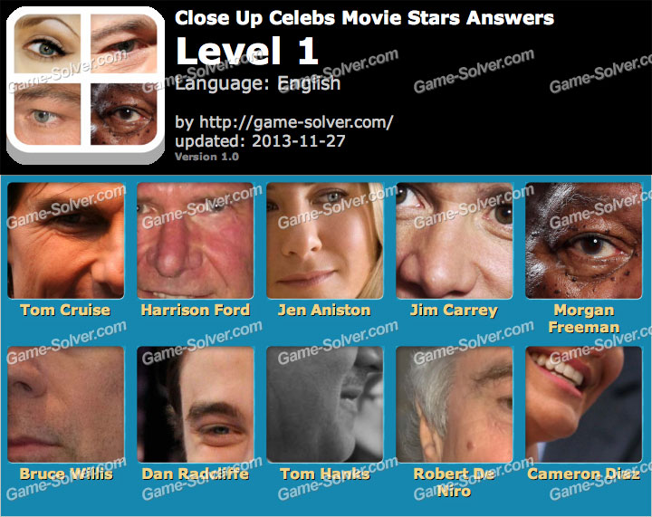 Close Up Celebs Movie Star Edition Level 1