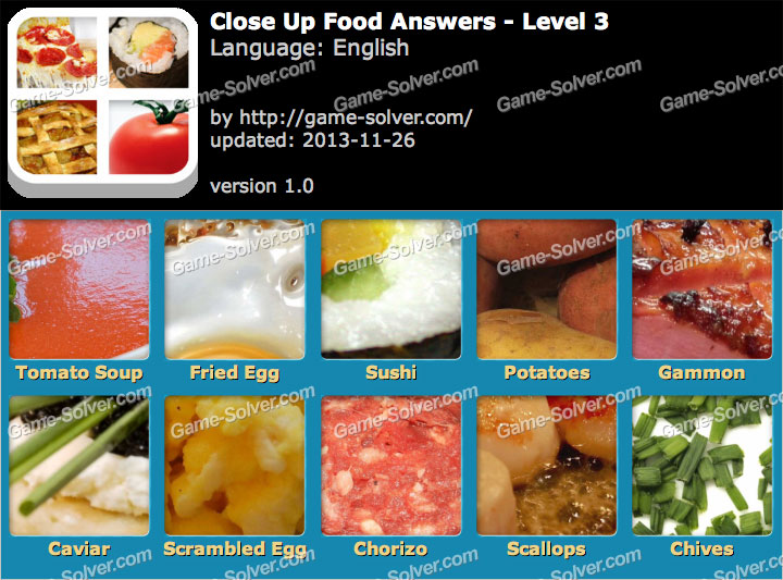 Close Up Food Level 3