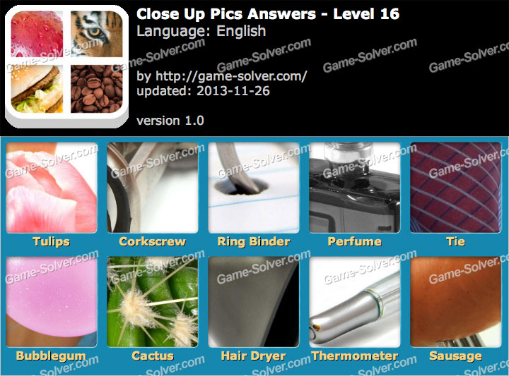 Level up 16 answers pics close