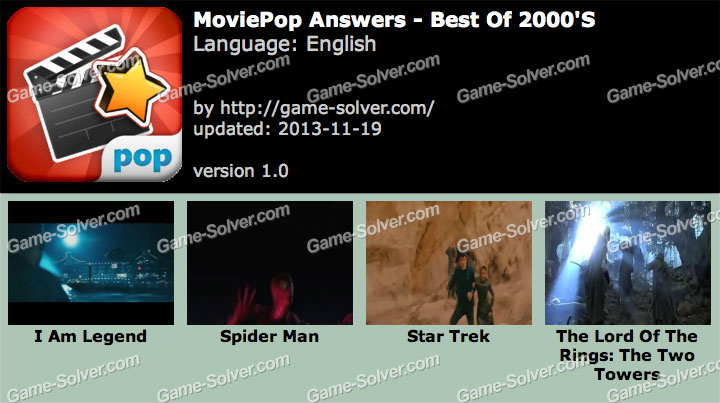 MoviePop Best of 2000's Answers