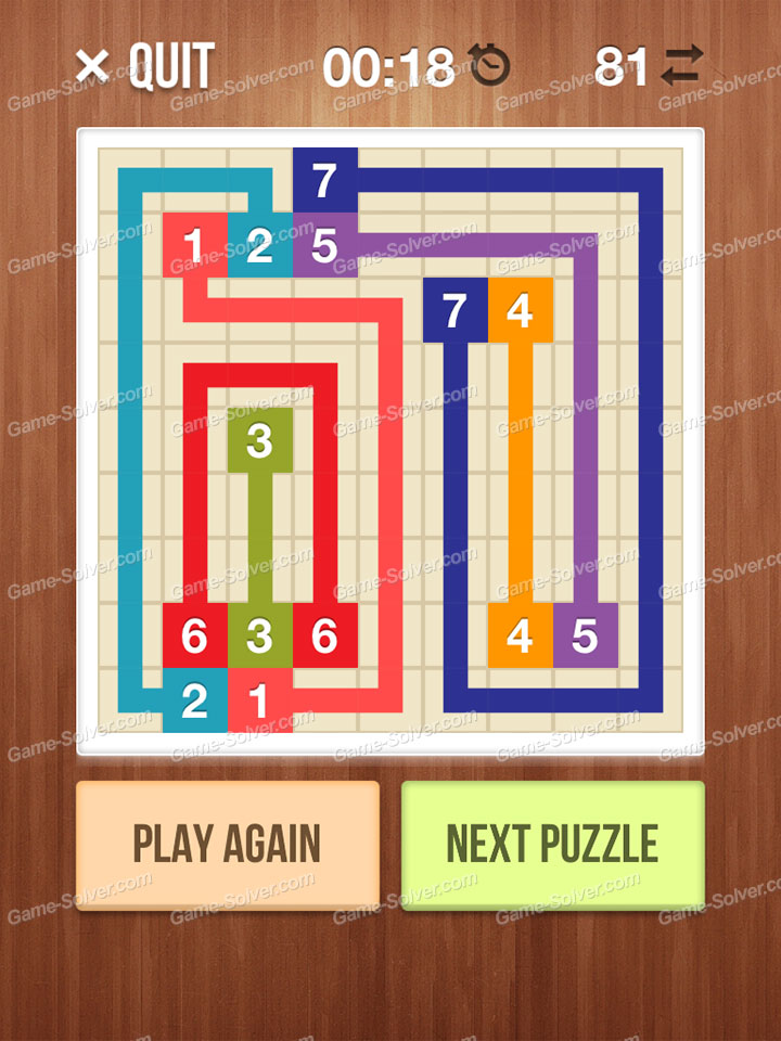 Number Link Crossing Lines Level 27