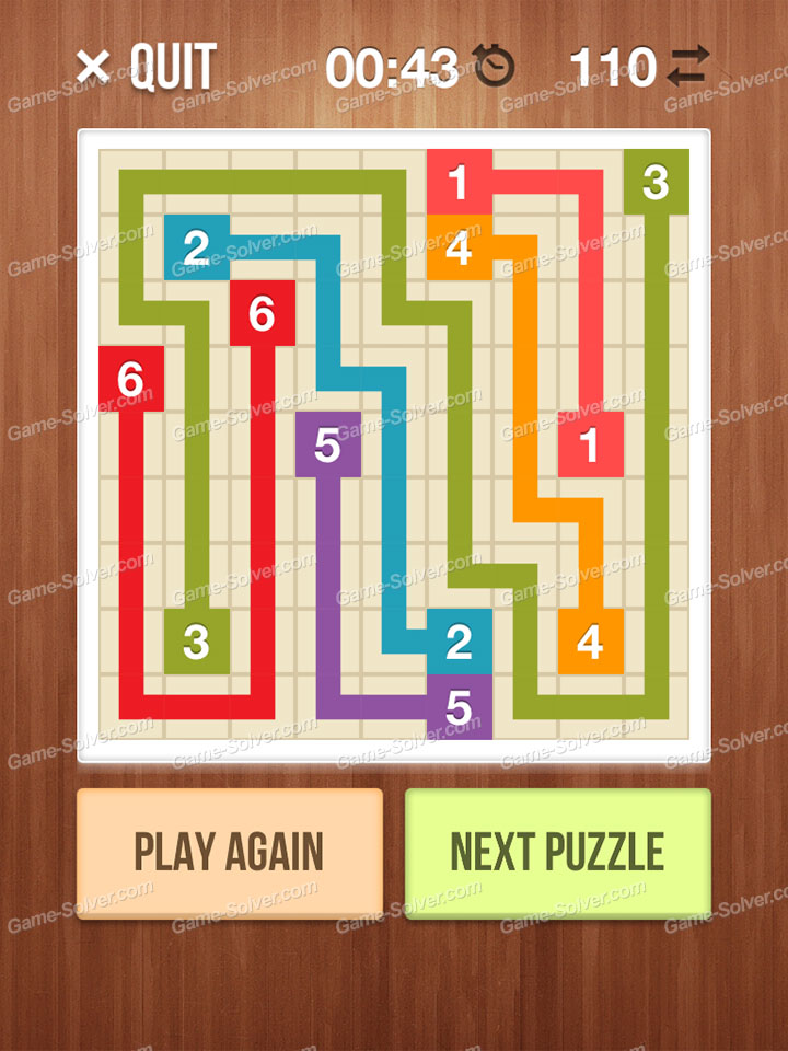 Number Link Crossing Lines Level 40