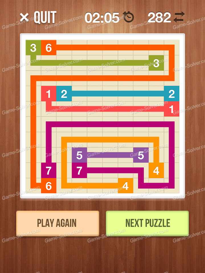 Number Link Crossing Lines Level 62