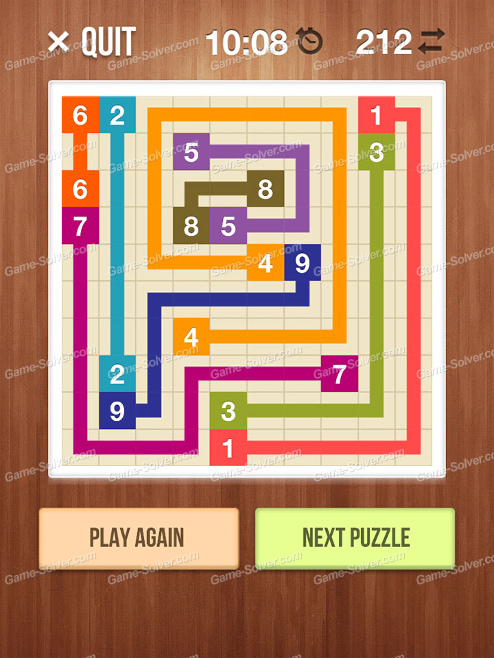 Number Link Crossing Lines Level 66
