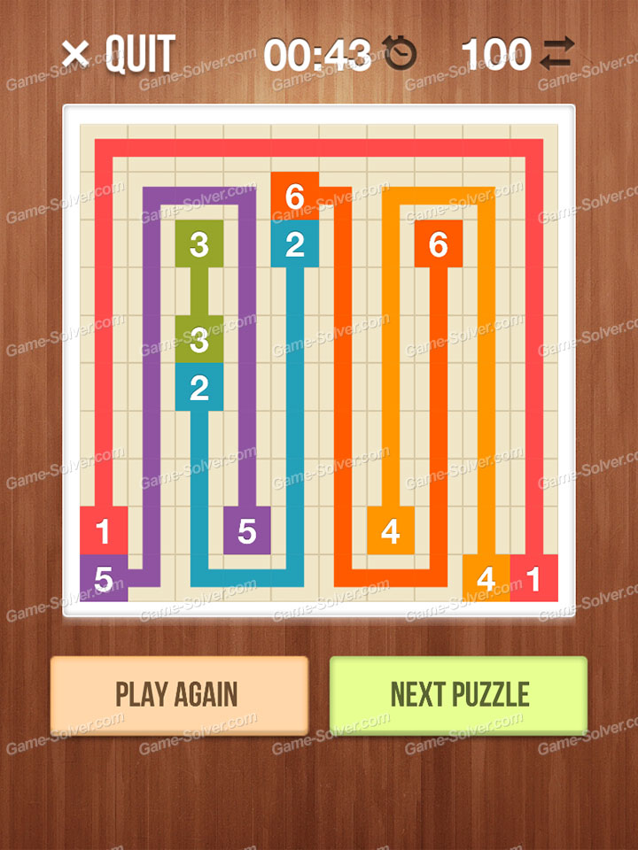 Number Link Crossing Lines Level 92