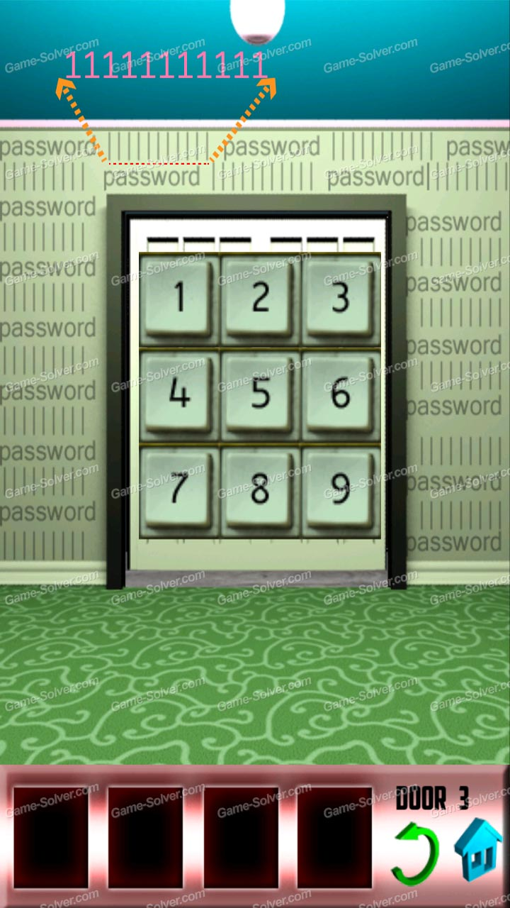100 doors level 13 game solver for Door 4 level 13
