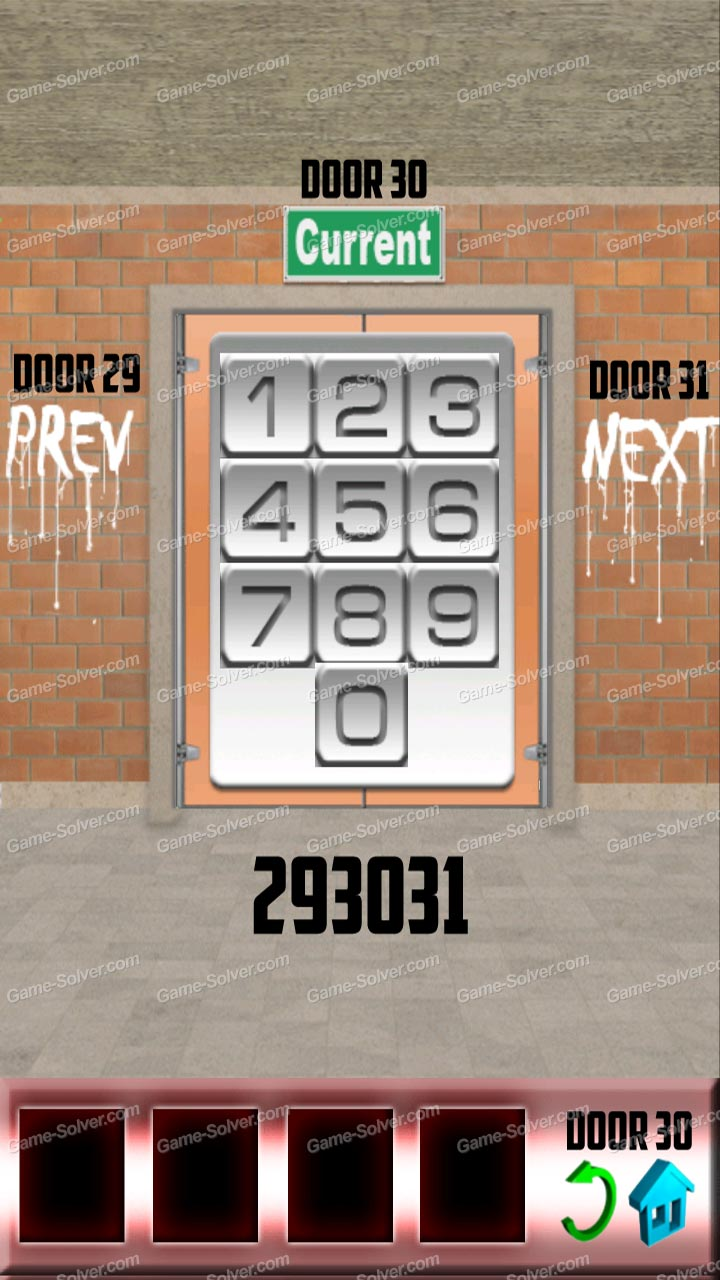 100 Doors Level 30 & 100 Doors Level 30 - Game Solver