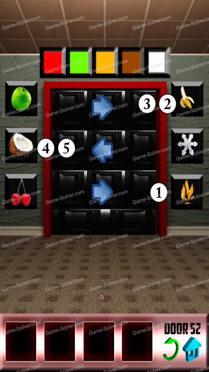100 doors level 52 game solver for Door 4 level 21