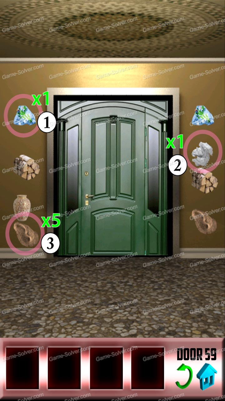 100 doors level 59 game solver for Door 4 level 13