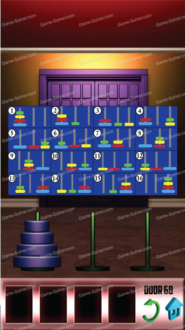 100 Doors Level 68 & 100 Doors Level 68 - Game Solver