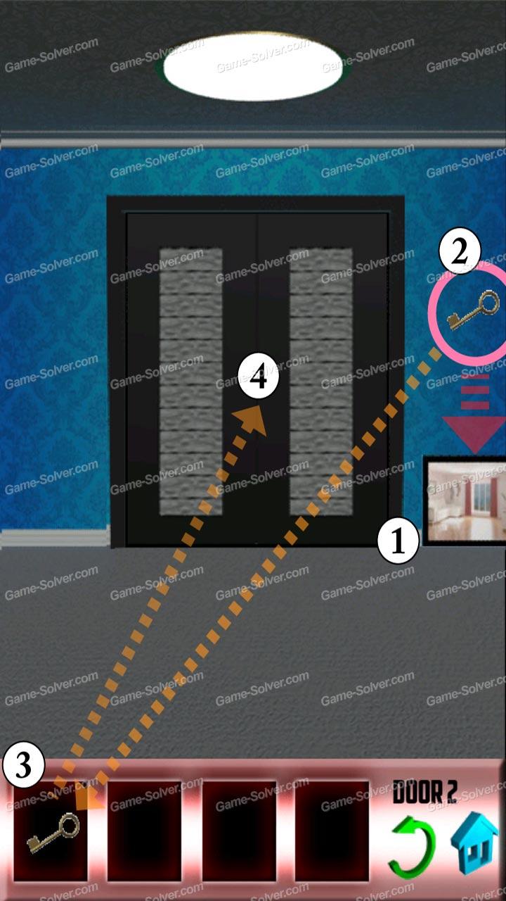 100 doors x level 2 game solver for 100 door x