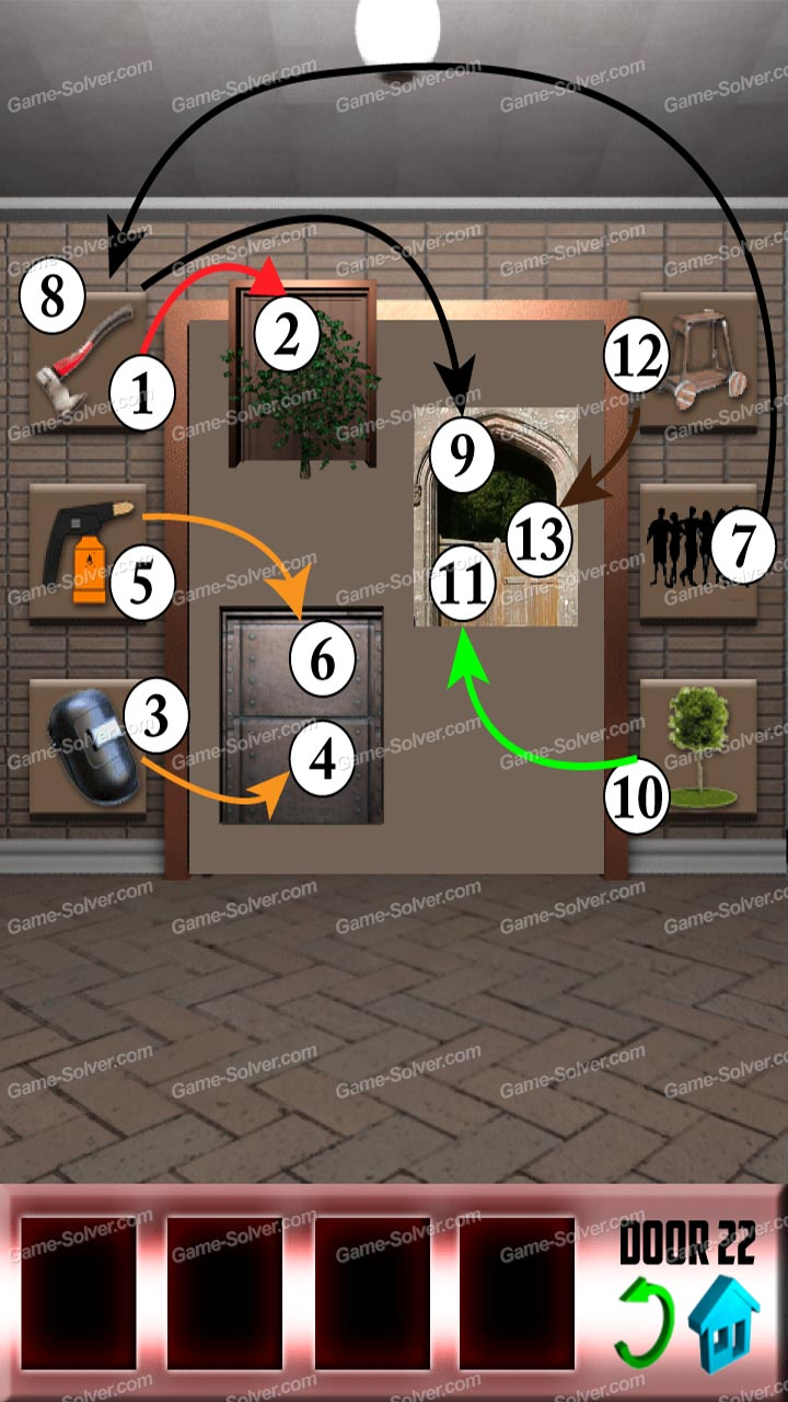 100 doors x level 21 game solver for Door 4 level 21