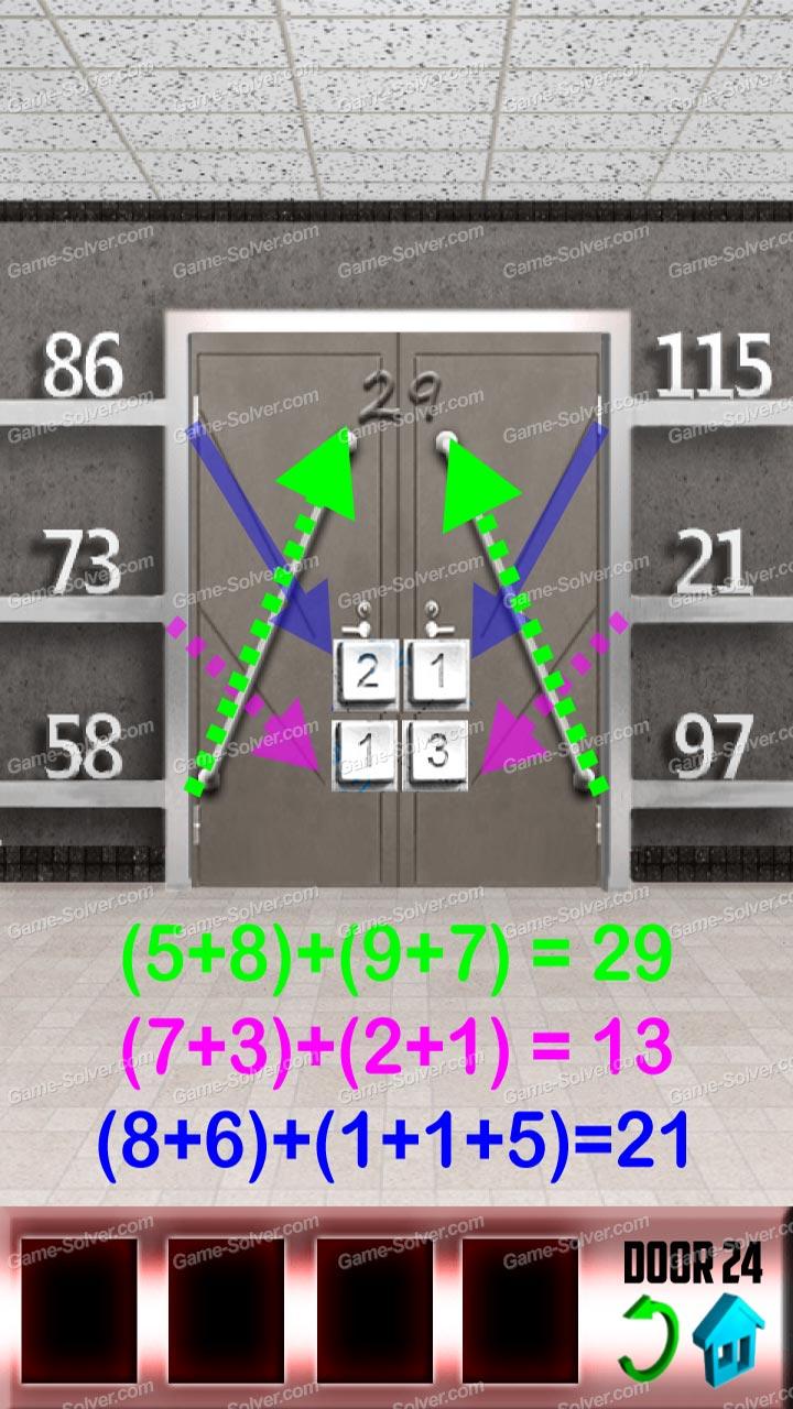 100 doors x level 23 game solver for 100 doors door 23