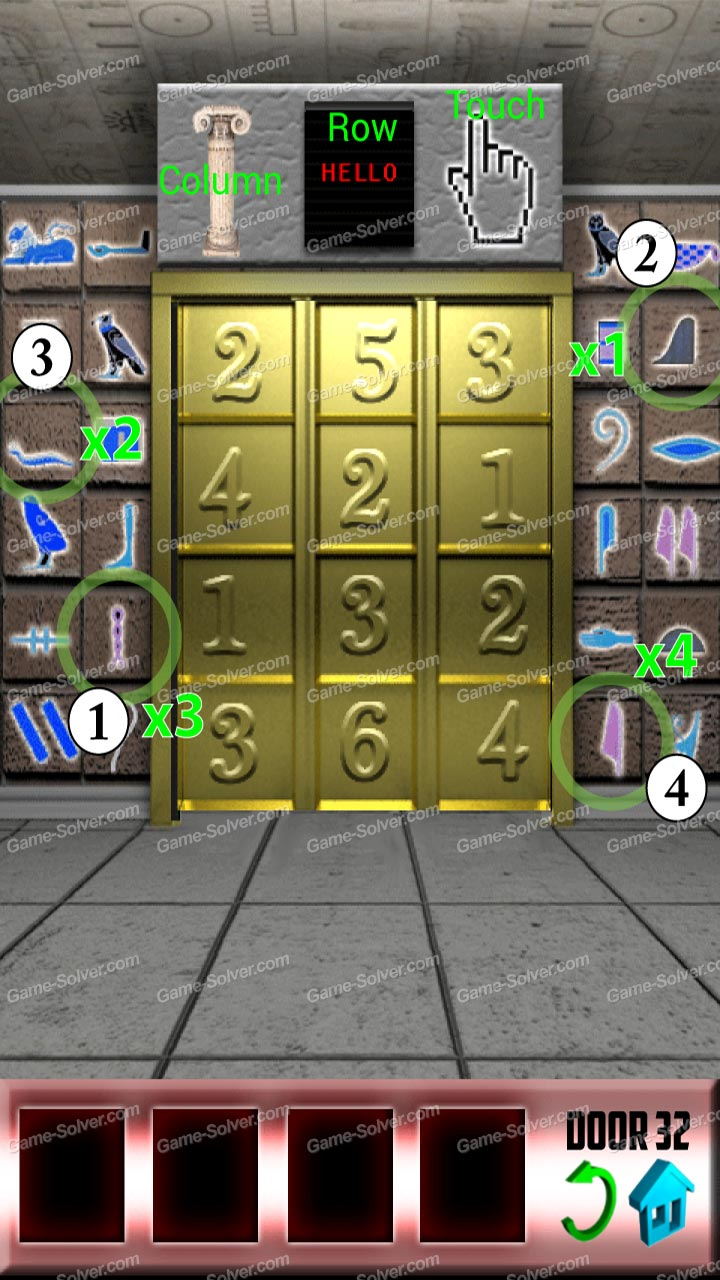 100 doors x level 31 game solver for Door 4 level 21