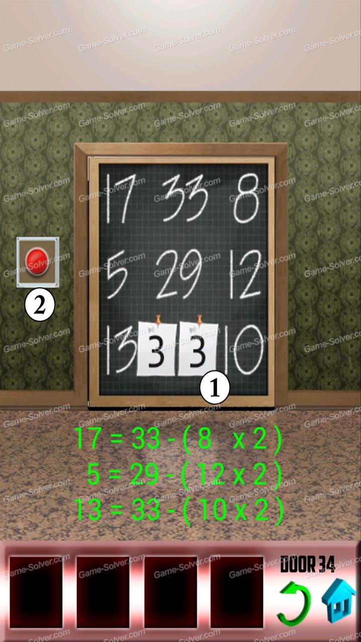 100 doors x level 33 game solver for 100 door x