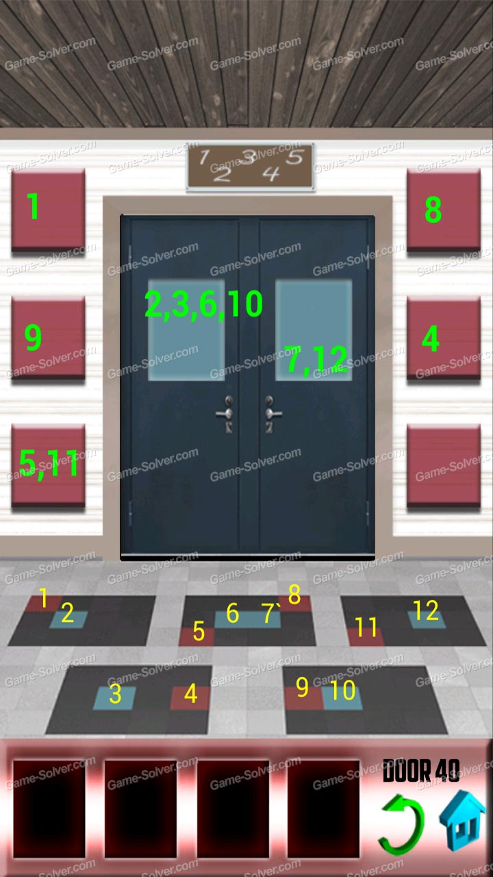 100 Doors X Level 39 Game Solver