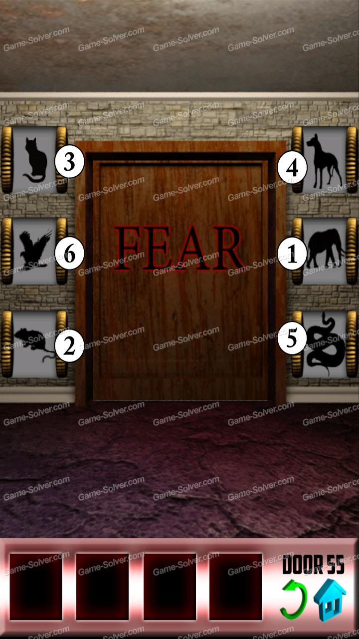 100 doors x level 54 game solver