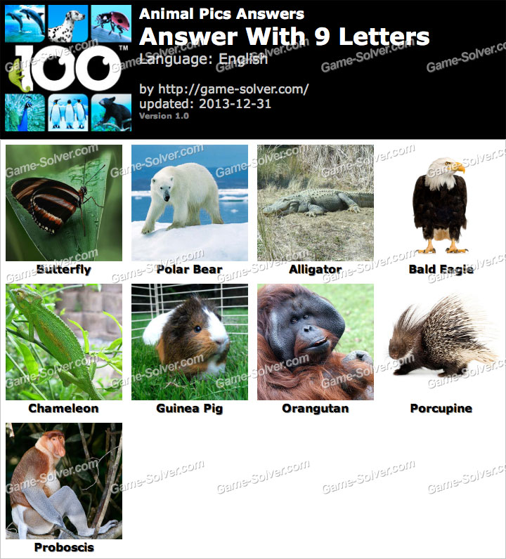 animals with four letters animal pics 9 letters solver 20464