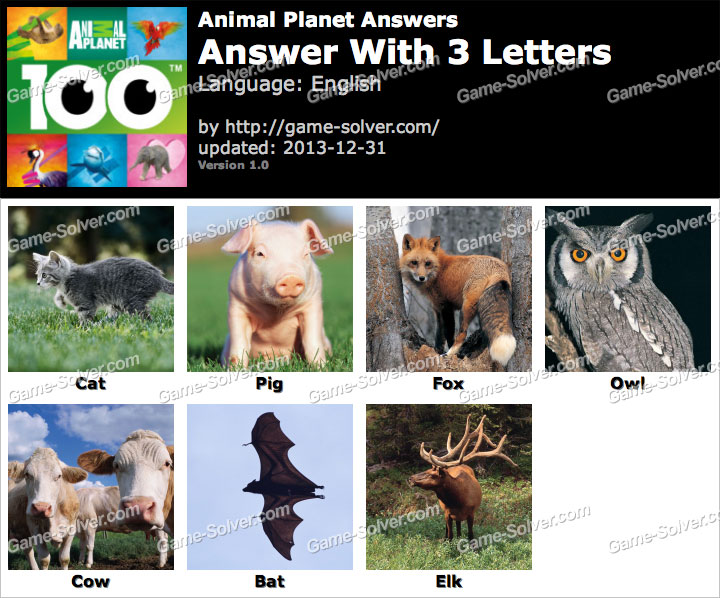 Animal Planet Answers - Game Solver