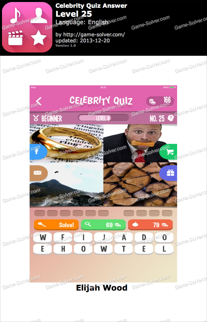Celebrity Quiz Level 33 - AnswersKey