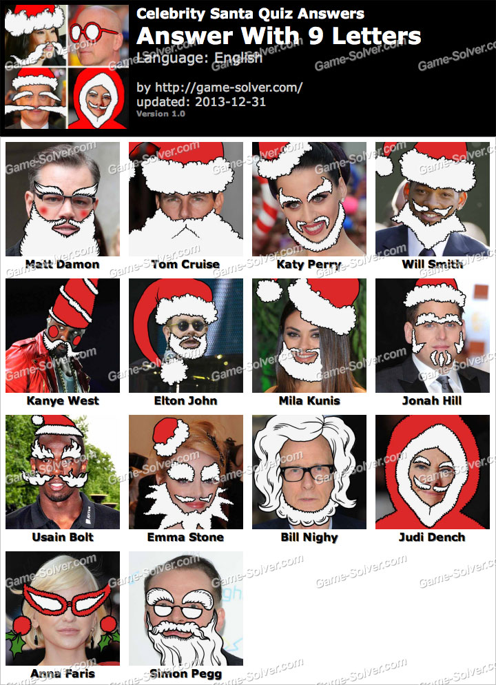 Guess the Santa Celebrity by pyrites - Teaching Resources ...