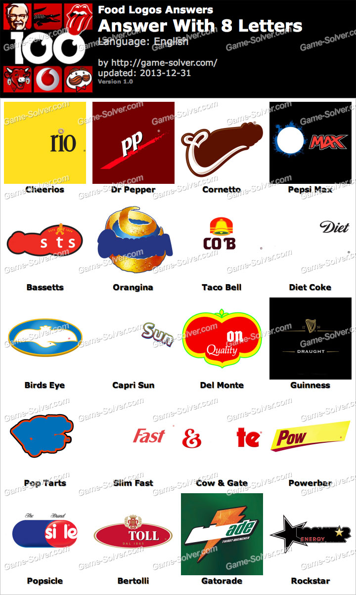 food logos 8 letters game solver food logos 8 letters