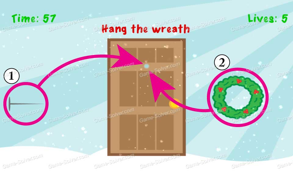 Impossible Test Christmas Hang the wreath