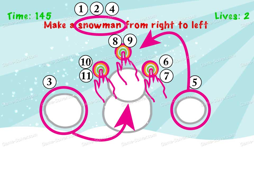 Impossible Test Christmas Make a snowman from right to left