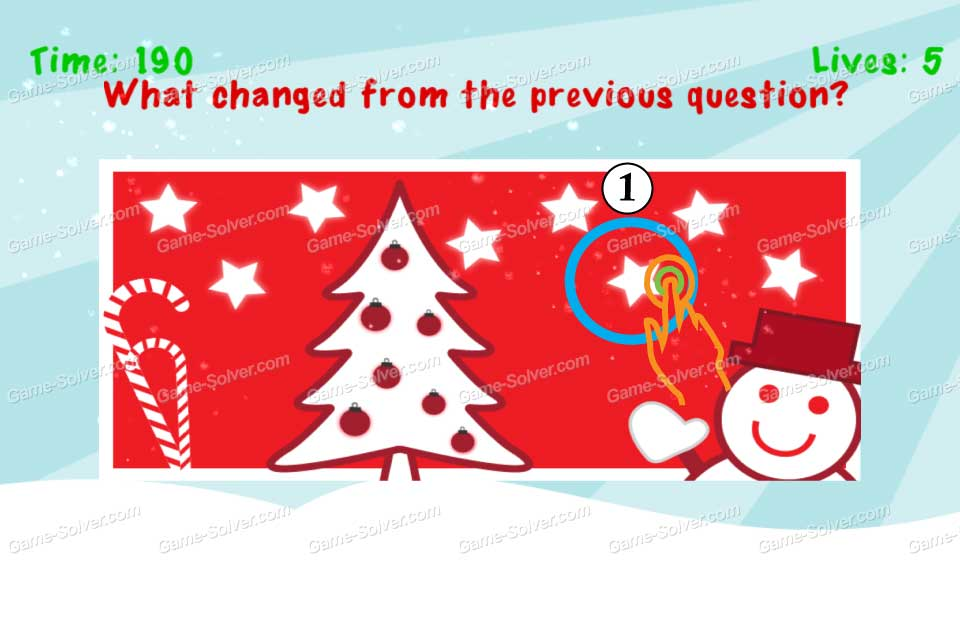Impossible Test Christmas What change from the previous question