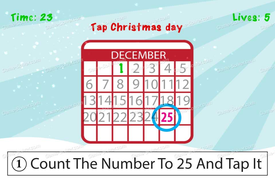 Impossible Test Christmas Tap christmas day