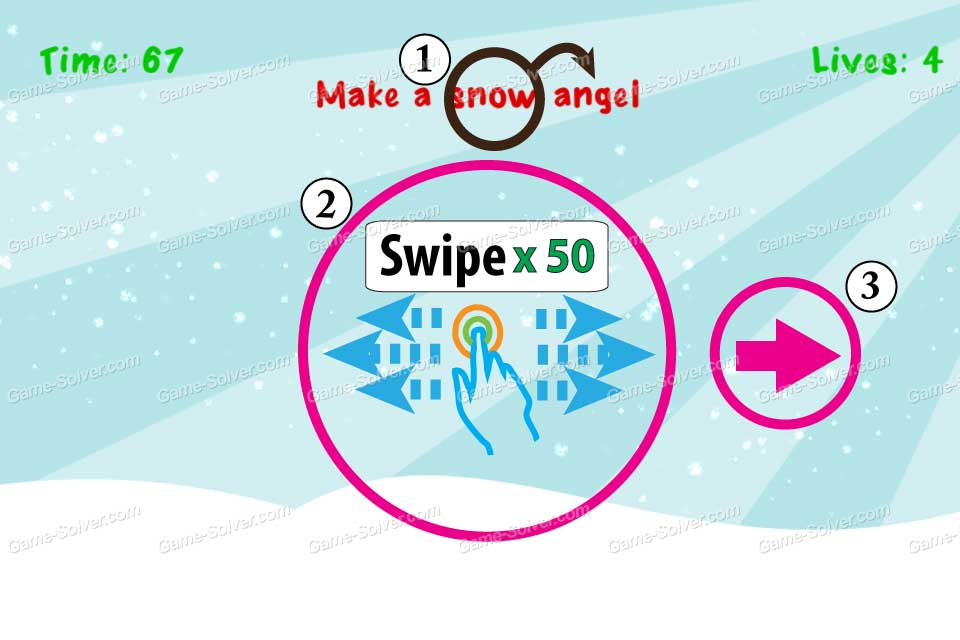 Impossible Test Christmas Make a snow angel