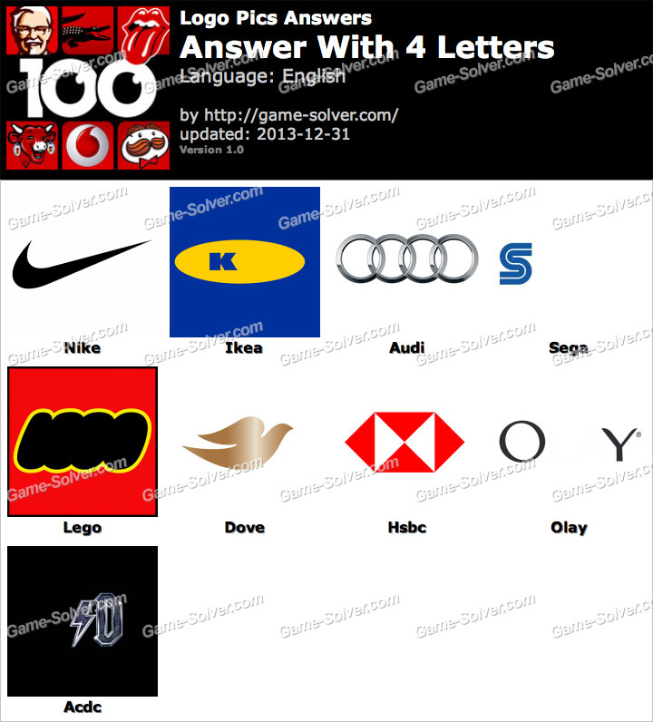 Logo pics 4 letters game solver