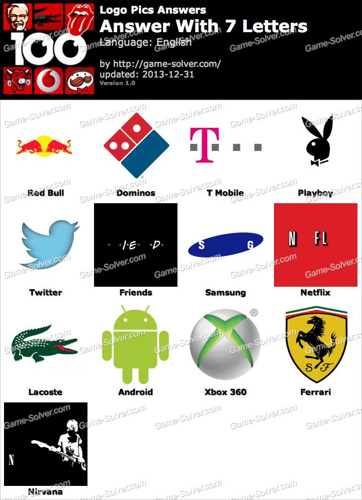 Logo quiz answers logo quiz solution logos quiz solutions logo quiz - Logo Pics 7 Letters Game Solver