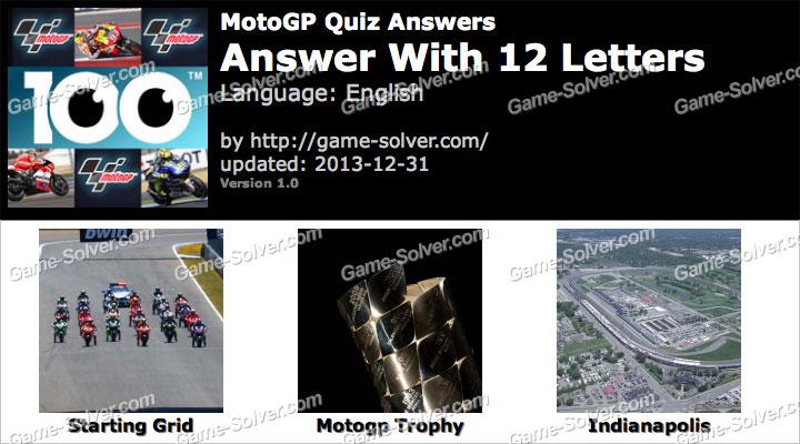 motogp quiz 12 letters