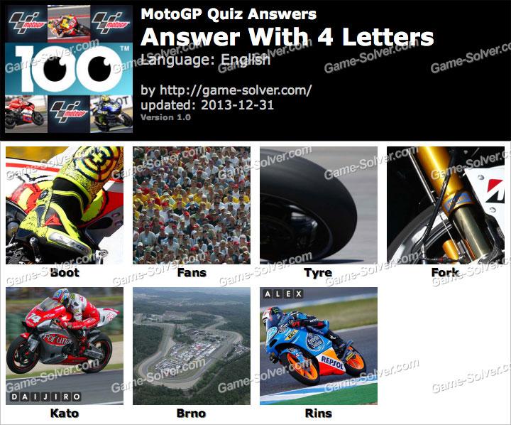 MotoGP Quiz 4 Letters - Game Solver