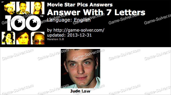 Movie Star Pics 7 Letters