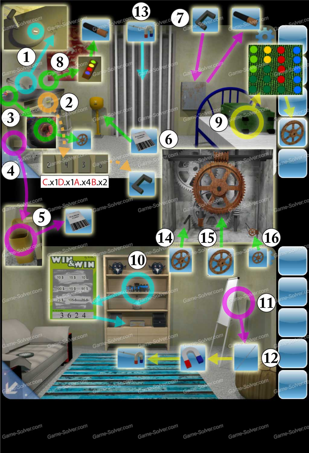 Escape from the room with the device walkthrough solution cheats - Can You Escape 2 Level 8