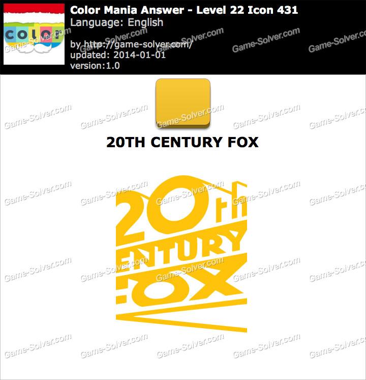 Colormania Level 22 Icon 431 20TH CENTURY FOX