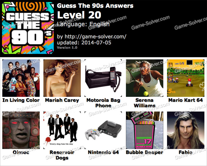 Level 14 Guess the 90s