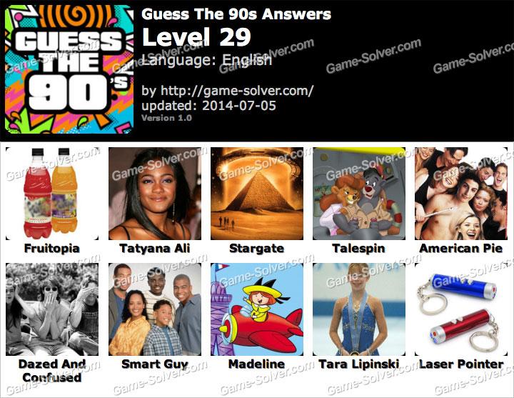 Guess The 90s Level 28 Guess the 90s level 29Guess The 90s Level 29