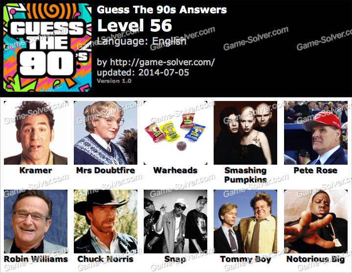 Level 13 Guess the 90s