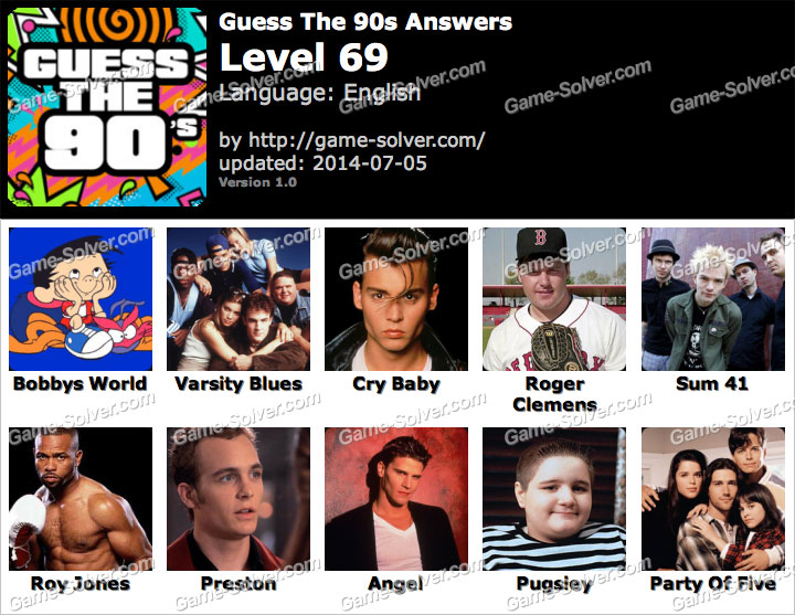 Games Guess the 90s