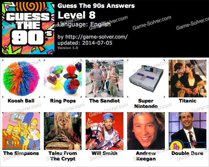 level 5 guess the 90s answers cheats guess the 90s
